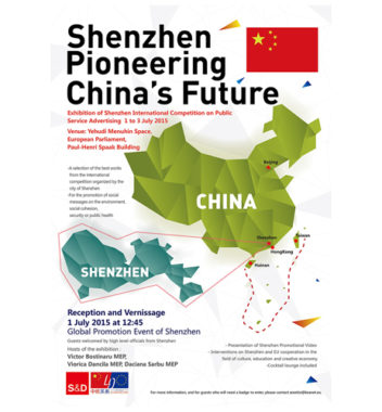 International metropolis Shenzhen comes to the heart of Brussels on 1st July 2015