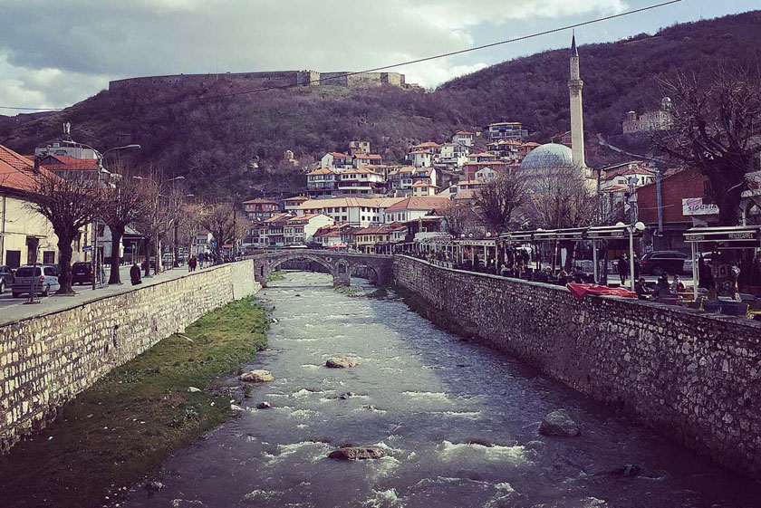 View of the old city and the castle in Prizren, Kosovo