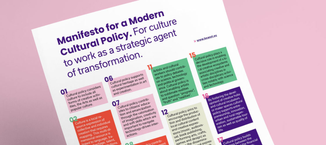 Manifesto for a Modern Cultural Policy