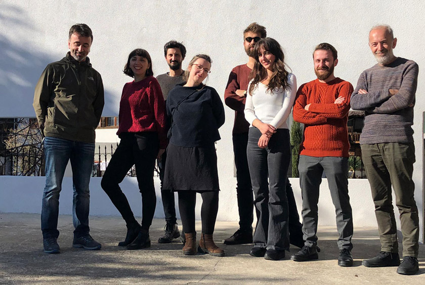 Representatives of cultural organisations in Kosovo that developing togeher a creative hub in Prizren